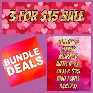 Other - Bundle to save! 3/$18 3/$15 on smaller items